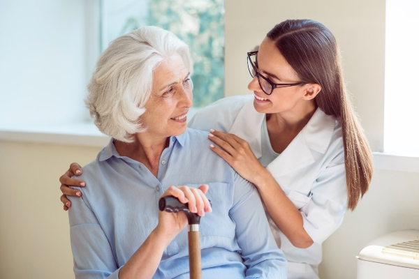 Choosing a career as a caregiver for the elderly.